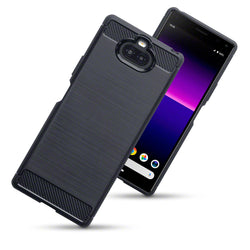 Qubits Sony Xperia 20 Carbon Fibre Design TPU Gel Case - Black (CLEARANCE)