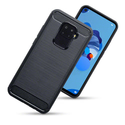 Qubits Huawei Mate 30 Lite Carbon Fibre Design TPU Gel Case - Black (CLEARANCE)