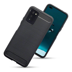 Qubits Huawei Honor V30 Carbon Fibre Brushed Effect TPU Gel Case - Black