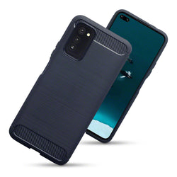 Qubits Huawei Honor V30 Carbon Fibre Brushed Effect TPU Gel Case - Dark Blue