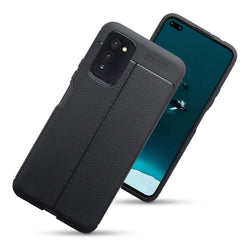 Qubits Huawei Honor V30 Leather Texture TPU Gel Case - Black
