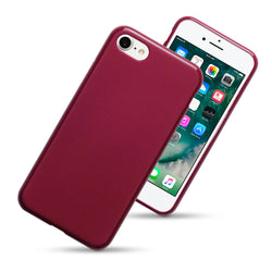 Qubits Apple iPhone 7/8/SE 2020 TPU Gel Case - Red Matte
