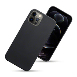 Qubits iPhone 12 / iPhone 12 Pro TPU Gel Case - Black Matte