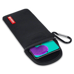 Shocksock Samsung Galaxy A51 Neoprene Pouch Case with Carabiner - Black