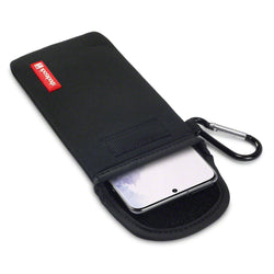 Shocksock Samsung Galaxy S20 Neoprene Pouch Case with Carabiner - Black