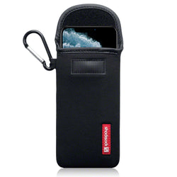 Shocksock Apple iPhone 11 Pro Neoprene Pouch Case with Carabiner - Black