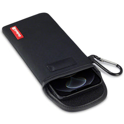 Shocksock iPhone 12 Pro Max Neoprene Pouch with Carabiner - Black