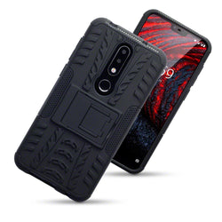 Qubits Nokia 6.1 Plus Rugged Case - Black