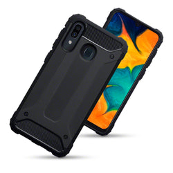 Qubits Samsung Galaxy A30 Double Layer Impact Case - Black