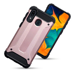 Qubits Samsung Galaxy A30 Double Layer Impact Case - Rose Gold