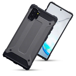 Qubits Samsung Galaxy Note 10 Plus Double Layer Impact Case - Gunmetal