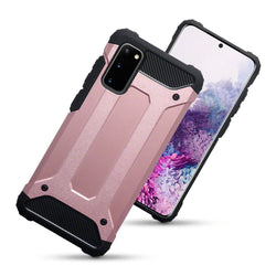 Qubits Samsung Galaxy S20 Double Layer Impact Case - Rose Gold