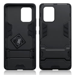 Qubits Samsung Galaxy A91 / S10 Lite Dual Layer Shock Resistant Case with Stand - Black