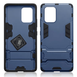 Qubits Samsung Galaxy A91 / S10 Lite Dual Layer Shock Resistant Case with Stand - Dark Blue