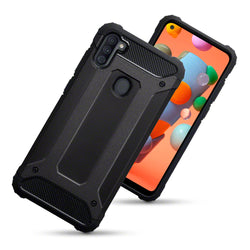 Qubits Samsung Galaxy A11 Double Layer Impact Case - Black