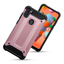 Qubits Samsung Galaxy A11 Double Layer Impact Case - Rose Gold