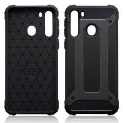Qubits Samsung Galaxy A21 Double Layer Impact Case - Black
