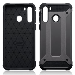 Qubits Samsung Galaxy A21 Double Layer Impact Case - Gunmetal