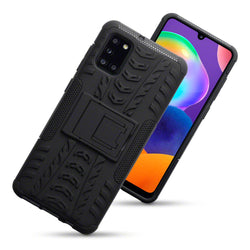 Qubits Samsung Galaxy A31 Rugged Case - Black