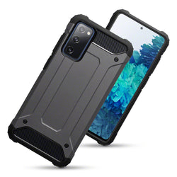 Qubits Samsung Galaxy S20 FE Double Layer Impact Case - Gunmetal