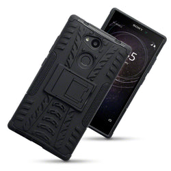 Qubits Sony Xperia L2 Rugged Case - Full Black (CLEARANCE)