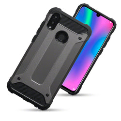 Qubits Huawei P Smart 2019 Double Layer Impact Case - Gunmetal