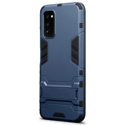 Qubits Huawei Honor V30 Dual Layer Armour Case with Stand - Dark Blue