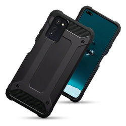 Qubits Huawei Honor V30 Double Layer Impact Case - Black