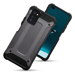 Qubits Huawei Honor V30 Double Layer Impact Case - Gunmetal