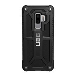 (UAG) Urban Armor Gear Samsung Galaxy S9+ Monarch Case - Black / Silver logo