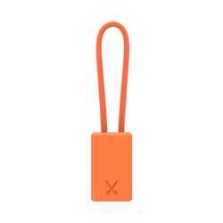 PHILO Lightning MFI Charging Cable Keychain for Apple Device - Neon Orange (CLEARANCE)