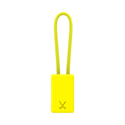 PHILO Lightning MFI Charging Cable Keychain for Apple Device - Yellow (CLEARANCE)
