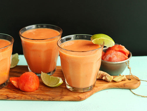 Coconut Papaya Vegan Smoothie Recipe