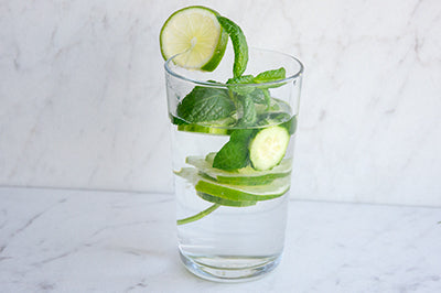 refreshing vegan cucumber mint water