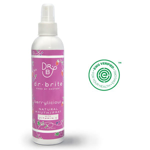 Natural Berry Vitamin C Mouthwash Spray for Kids with Coconut Oil