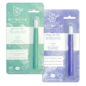 natural teeth whitening pen and healthy mouth maintenance pen set