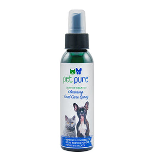 Dr. Brite Oral Spray for Cats and Dogs. Fights tarter buildup and eliminates bad pet breath.