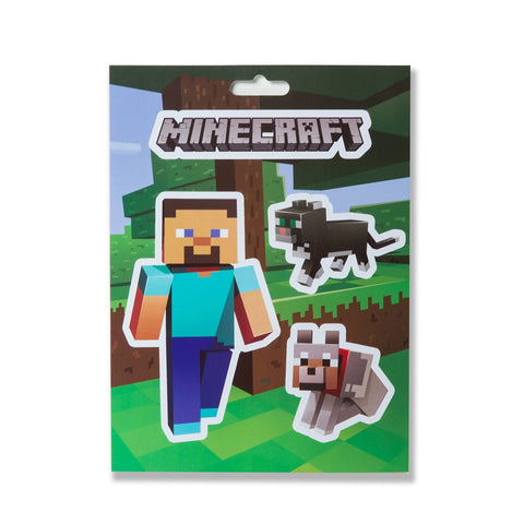 Minecraft Steve Pets Sticker Pack