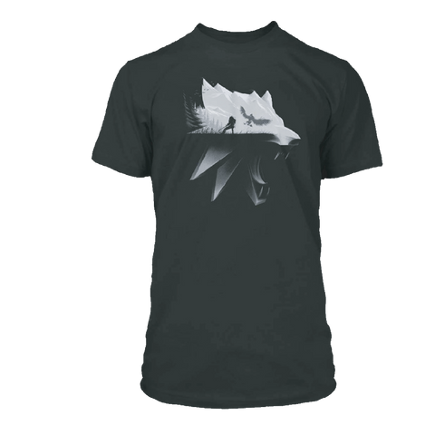The Witcher 3 Wolf Silhouette Tee