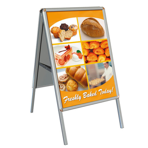 Double sided pavement display