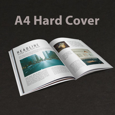 A4 Booklet Hard Cover Gloss Laminate
