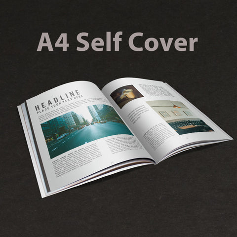 A4 Booklet Self Cover