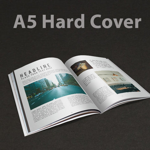 A5 Booklet Hard Cover Matt Laminate