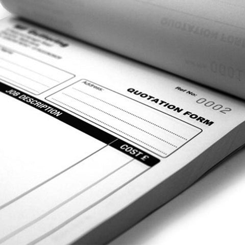 A4 Invoice Books Black & White