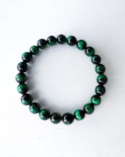 Minimal Green Tiger Eye Bracelet