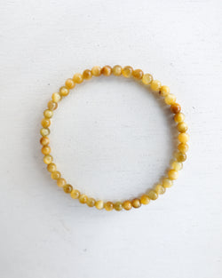 Minimal Gold Tiger Eye Bracelet