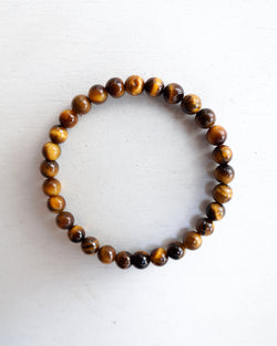 Minimal Yellow Tiger Eye Bracelet