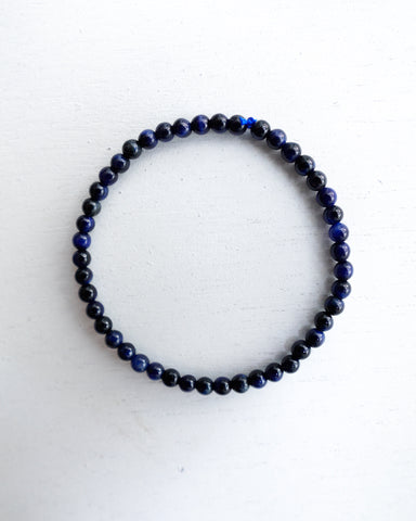Minimal Blue Tiger Eye Bracelet