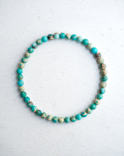 Minimal Lake Blue Sediment Bracelet