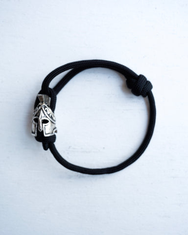 Single Strand Bracelet with Spartan Helmet Charm
